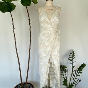 NWT Michael Costello Bridal Wrap Dress